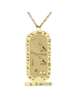 Personalized Hieroglyphic Pendant Necklace by Fine Jewelry