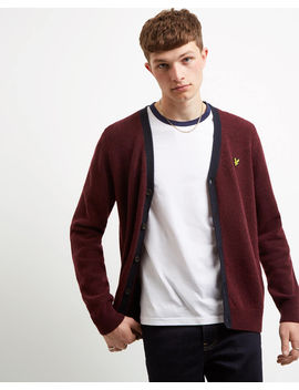Contrast Placket Cardigan by Lyle & Scott