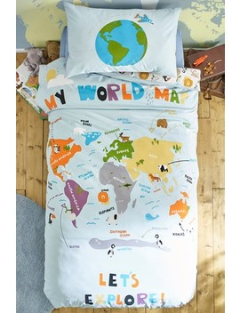Animal World Map Duvet Cover And Pillowcase Set by Next