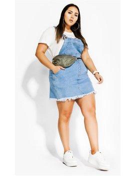 Denim Overall Bib Dress by City Chic