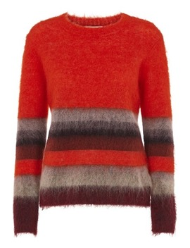 Red Lucca Knit O   Neck Genser by Second Female