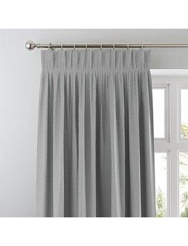 Austin Charcoal Pencil Pleat Curtains by Dunelm