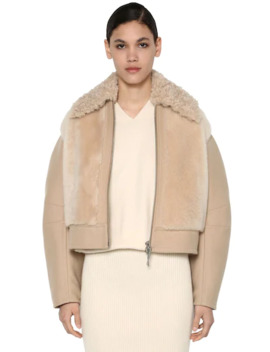 virgin-wool-blend-&-shearling--jacket by sportmax