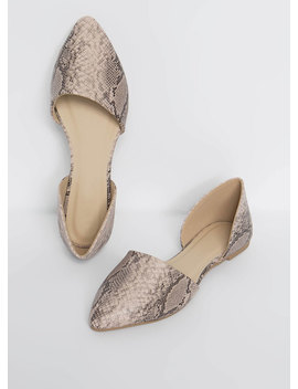 Living In Snake Print D'orsay Flats by Go Jane