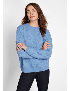 Open Your Heart Textured Sweater by Modcloth