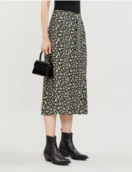 Jaime Floral Print High Waist Crepe Midi Skirt by Reformation