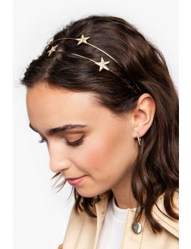 **Double Star Row Metal Headband by Topshop