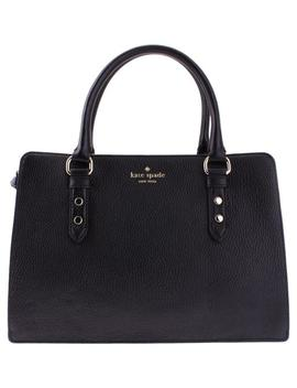 Mulberry Street Lise Wkru4002 Black Leather Satchel by Kate Spade