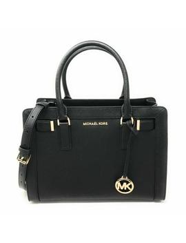 East West Dillon Zip Medium Satchel Black Leather Cross Body Bag by Michael Kors