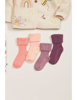 4 Pack Roll Top Socks (Younger) by Next