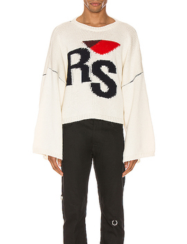 Cropped Oversized Rs Sweater by Raf Simons