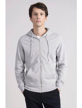 The Zip Hoodie   Grey Melange by Asket