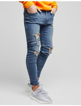 Illusive London Skinny Washed Ripped Jeans Junior by Illusive London