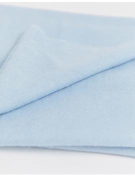 Asos Design – Schlichter, Leichter, Langer Schal Mit Ungesäumten Kanten In Blau by Asos