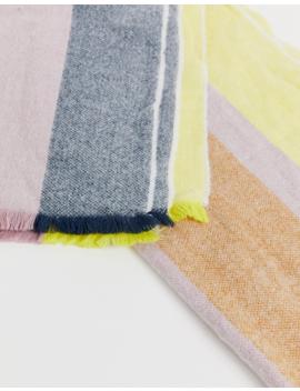 Asos Design – Langer Gewebter Oversize Schal Mit Streifen by Asos