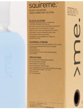 Squire Me – Wasserflasche Aus Glas In Eisblau by Asos