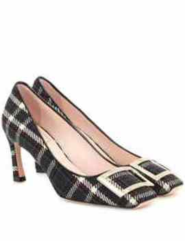 Belle Vivier Trompette Checked Pumps by Roger Vivier