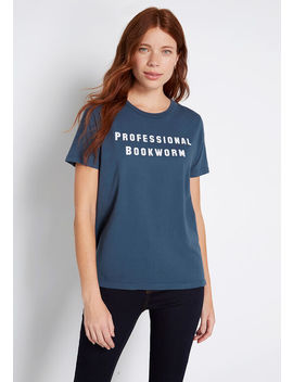 Professional Bookworm Graphic Tee by Modcloth