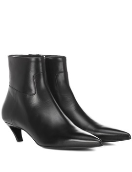 Bottines Slash Heel En Cuir by Balenciaga