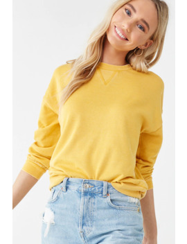 Fleece Dropped Shoulder Sweatshirt by Forever 21