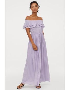 Plisserad Långklänning by H&M