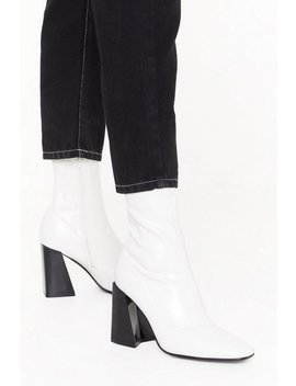 Truth Or Flare Heel Sock Boots by Nasty Gal