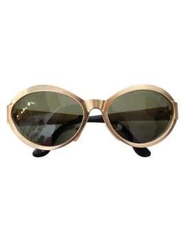 1990s Versace Matte Gold Metal Sunglasses by 1 Stdibs