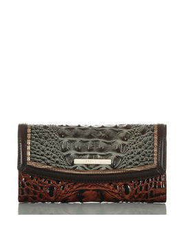 Modern Checkbook Wallet Heartwood by Brahmin