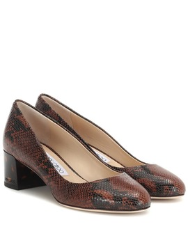 Jessie 40 Snake Effect Leather Pumps by Jimmy Choo