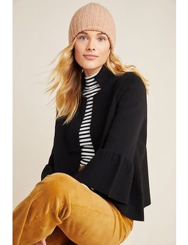 Blaise Mock Neck Sweater Jacket by Anthropologie