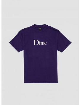 Dime Logo T Shirt Purple by Dime