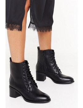 Pu Laced Up Victorian Ankle Boot by Nasty Gal