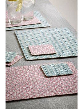 Set Of 4 Geo Floral Placemats And Coasters by Next