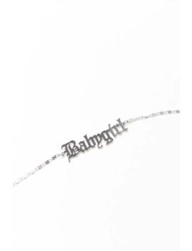 Babygirl Pendant Bracelet by Forever 21
