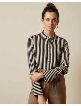 Striped Satin Shirt by Ted Baker