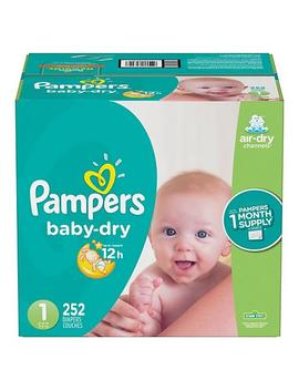 Pampers Baby Dry One Month Supply Diapers (Choose Your Size) by Pampers