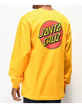 Santa Cruz Classic Dot Gold Long Sleeve T Shirt by Santa Cruz Skate