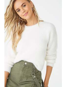 Brushed Waffle Knit Sweater by Forever 21