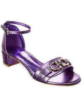 Salvatore Ferragamo Como Metallic Leather Sandal by Salvatore Ferragamo