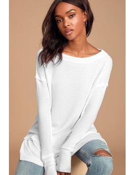 North Shore White Long Sleeve Thermal Top by Free People
