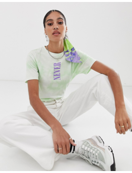 Asos Design Tie Dye T Shirt With Slogan by Asos Design