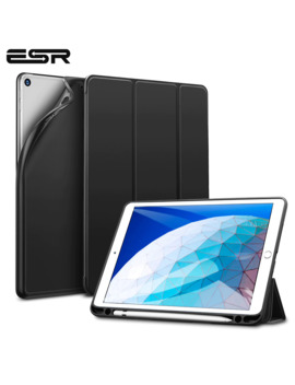 Esr Case For I Pad Air 3 2019 Folio Rubber Oil Cover Ultra Slim Smart Case Soft Tpu Back Case With Pencil Slot For I Pad Air 2019 by Ali Express.Com