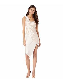 Asymmetrical Satin Slip Dress by Bebe