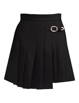Jino Pleated Buckle Skirt by Maje