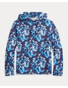 Floral Cotton Hooded T Shirt by Ralph Lauren