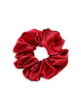 Hot Brief Solid Satin Elastic Scrunchy   Red by Zaful
