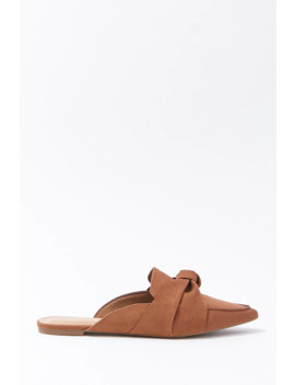 Faux Suede Knotted Mules by Forever 21