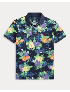 Classic Fit Floral Mesh Polo by Ralph Lauren