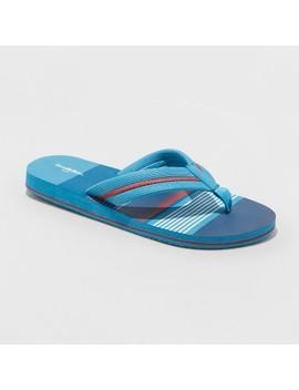 Men's Ronnie Flip Flop Sandals   Goodfellow & Co Blue by Goodfellow & Co Blue