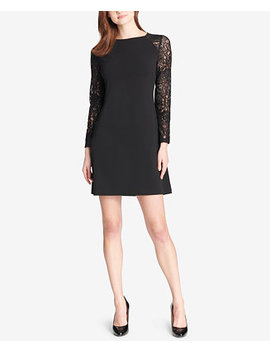 Lace Sleeve A Line Dress by General